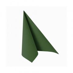 50 Servietten -ROYAL Collection- 1/4-Falz 25 cm x 25 cm dunkelgrün