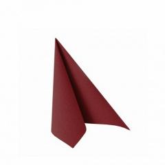 50 Servietten -ROYAL Collection- 1/4-Falz 25 cm x 25 cm bordeaux