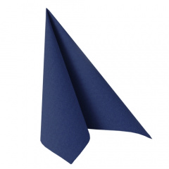 50 Servietten -ROYAL Collection- 1/4-Falz 48 cm x 48 cm dunkelblau