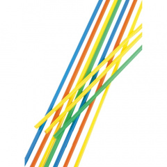 100 Trinkhalme, Maxi Ø 6,5 mm 75 cm farbig sortiert Sangria Trinkhalm