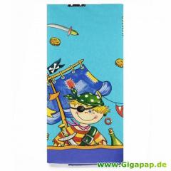 Tischdecke, Papier 120 cm x 180 cm -Pirate- lackiert