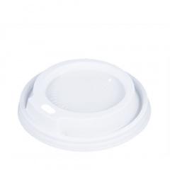 50 Dom-Deckel, PS rund Ø 8 cm 1,8 cm weiss