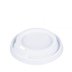 50 Dom-Deckel, PS rund Ø 8,7 cm 1,8 cm weiss