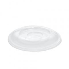 50 Dom-Deckel, PS rund Ø 15,5 cm 2,5 cm klar
