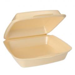 50 Menüboxen mit Klappdeckeln, EPS ungeteilt 7,5 cm x 22,5 cm x 22 cm beige laminiert