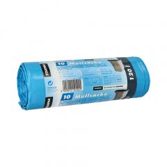 10 Müllsäcke, LDPE 120 l 110 cm x 70 cm blau