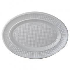 100 Teller, PS oval 21,7 cm x 15,7 cm x 2,1 cm weiss
