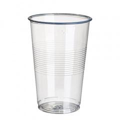 18 Trinkbecher, PP 0,5 l Ø 9,5 cm 13,7 cm transparent