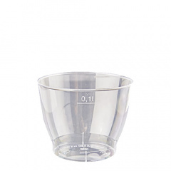 15 Trinkbecher, PS 0,1 l Ø 6,5 cm 5,1 cm glasklar
