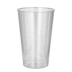 50 Trinkbecher, PS 0,4 l Ø 9 cm 13 cm glasklar