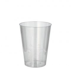 50 Trinkbecher, PS 0,2 l Ø 7,5 cm 9,7 cm glasklar