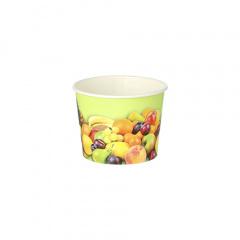 200 Eisbecher, Pappe rund 100 ml Ø 7 cm 5,3 cm -Früchte-