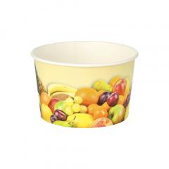 200 Eisbecher, Pappe rund 250 ml Ø 10 cm 6 cm -Früchte-