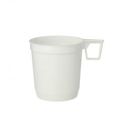 40 Kaffeetassen, PS 0,25 l Ø 8 cm 8,5 cm weiss
