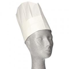 10 Kochmützen, Krepp 25 cm weiss -Provence- Größenverstellbar