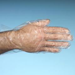 500 Handschuhe, PE transparent für Herren, L