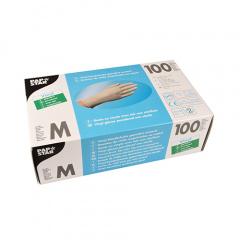 100 Handschuhe, Vinyl gepudert transparent Größe M
