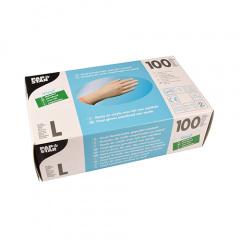 100 Handschuhe, Vinyl gepudert transparent Größe L