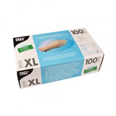 100 Handschuhe, Vinyl gepudert transparent Größe XL