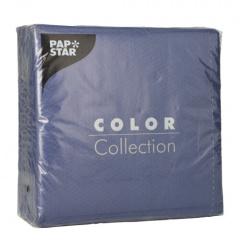100 Servietten, 1-lagig 1/4-Falz 33 cm x 33 cm dunkelblau