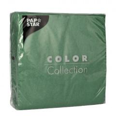 100 Servietten, 1-lagig 1/4-Falz 33 cm x 33 cm dunkelgrün