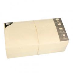 1000 Servietten, 3-lagig 1/4-Falz 33 cm x 33 cm creme - Karton