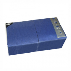 250 Servietten, 3-lagig 1/4-Falz 33 cm x 33 cm dunkelblau