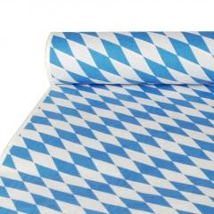 Papiertischtuch mit Damastprägung 10 m x 1 m -Bayrisch Blau-