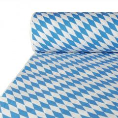 Oktoberfest Papiertischtuch mit Damastprägung 50 m x 1 m -Bayrisch Blau-