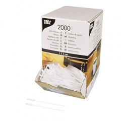 2000 Rührstäbchen, PS 11 cm weiss