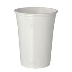 25 Trinkbecher, PS 0,4 l Ø 9,5 cm 12 cm weiss