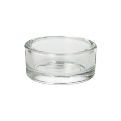Kerzenhalter, Glas rund Ø 90 mm 33 mm für Maxi Lichte