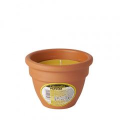 Terracottatopf mit farbiger Wachsfüllung Ø 90 mm 80 mm gelb - Citronella