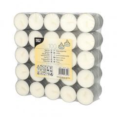 100 Teelichter Ø 39 mm 17 mm weiss