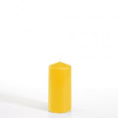 Stumpenkerze Ø 50 mm 100 mm goldgelb