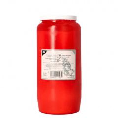 Kompositions-Öl-Licht T6 Ø 6,8 cm 14,2 cm rote Hülle