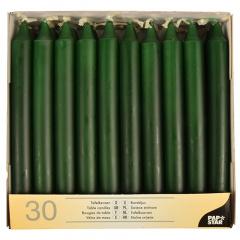30 Tafelkerzen Ø 2,15 cm 19,6 cm dunkelgrün