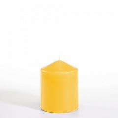 Stumpenkerze Ø 80 mm 100 mm goldgelb