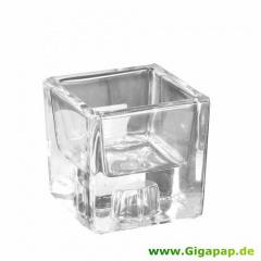 Kerzenhalter, Glas 60 mm x 60 mm x 60 mm -Two in One-