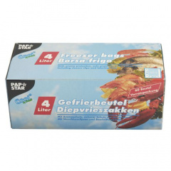 60 Gefrierbeutel, LLDPE 4 l 40 cm x 25 cm blau in Faltschachtel