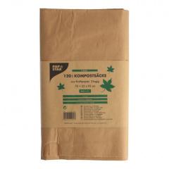 3 Kompostsäcke aus Papier 120 l 110 cm x 68 cm braun