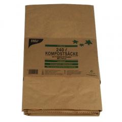 2 Kompostsäcke, 2-lagiges Kraftpapier 240 l 115 cm x 80 cm x 35 cm braun