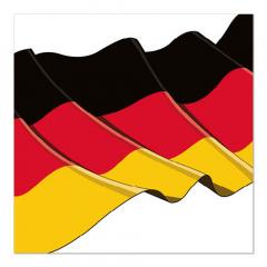 50 Servietten, 3-lagig 1/4-Falz 33 cm x 33 cm -Germany-