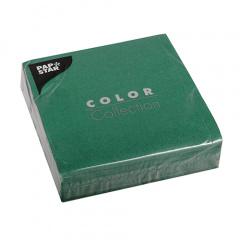 50 Servietten, 3-lagig 1/4-Falz 33 cm x 33 cm dunkelgrün