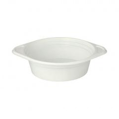 100 Suppenterrinen, PP rund 500 ml Ø 15,6 cm 4,5 cm weiss mit Anfasser