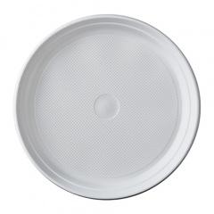 100 Menü-Teller, PP ungeteilt Ø 21,9 cm 2,6 cm weiss ohne Anfasser