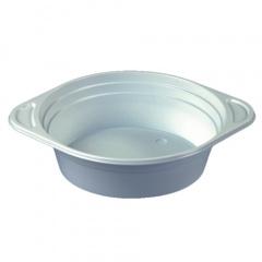 10 Suppenschalen, PP rund 500 ml Ø 15,6 cm 4,5 cm weiss mit Anfasser