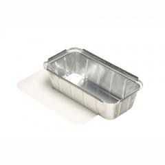 10 Schalen, Alu + Einlegdeckel, Pappe PE beschichtet eckig 1 l 21,4 cm x 11 cm x 5,4 cm