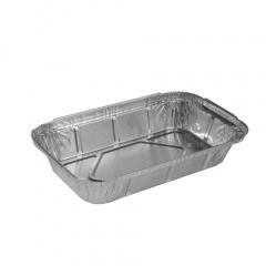 50 Schalen, Alu eckig 650 ml 22 cm x 12,8 cm x 3,5 cm für Lasagne