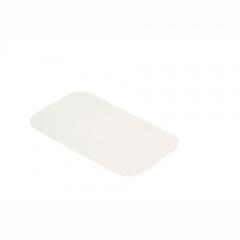 50 Einlegedeckel, Pappe PE beschichtet eckig 22 cm x 12,8 cm
